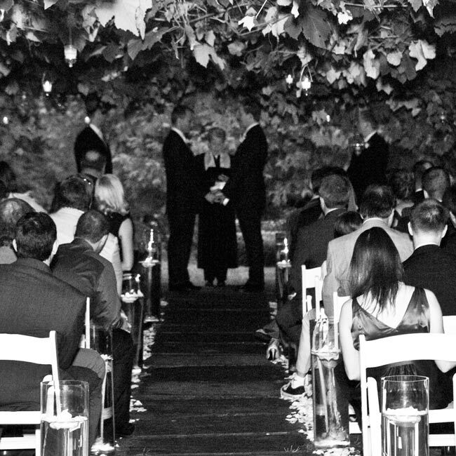 Kevin & Jeffrey: A White And Green, Outdoor Wedding In