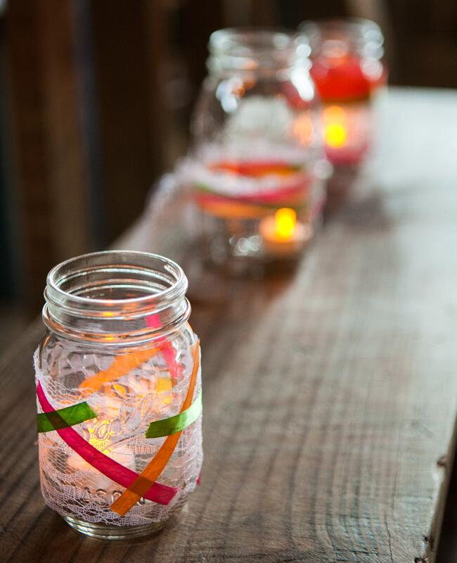 DIY ribbon wedding decor: The Observatory / TheKnot.com