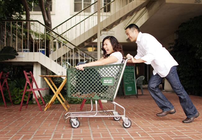 Grocery Cart Engagement Photo Props
