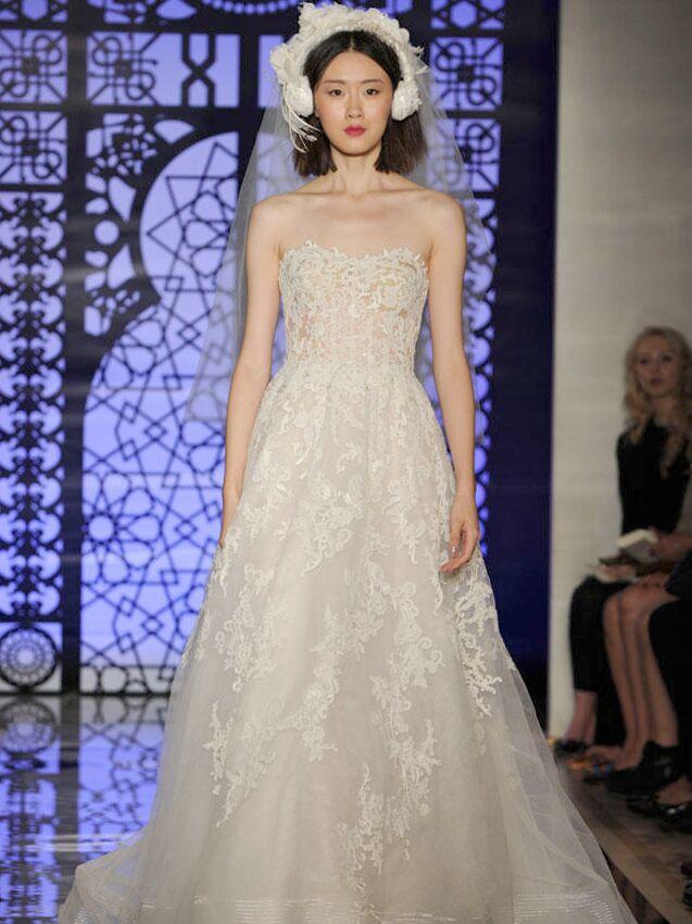 Reem Acra Fall Collection Wedding Dress Photos