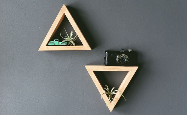 DIY Modern Triangle Shelves for Your Room Decor