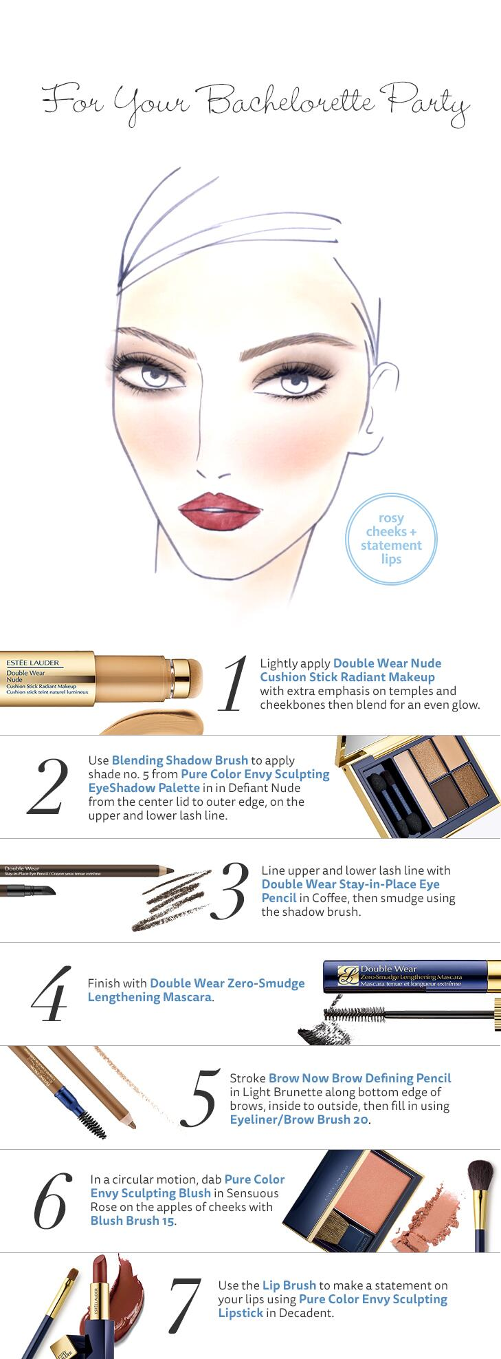 One Eyeshadow Color · Party Eye Makeup An Au Naturel Face With A Pop Of Lip