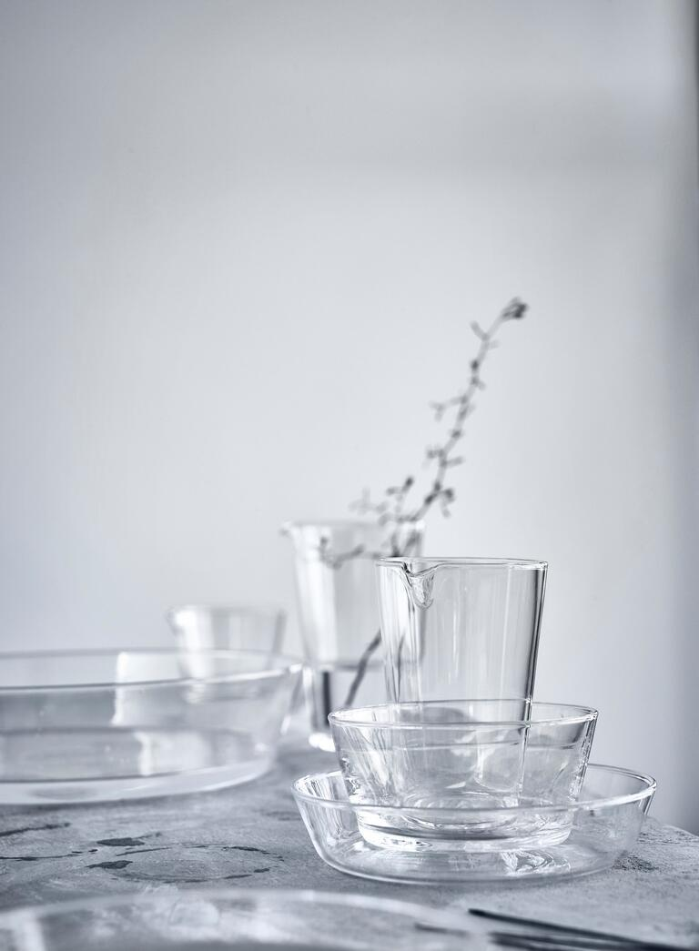 New serving glasses from Ikea's VIKTIGT collection