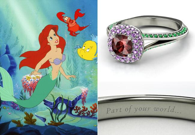 ring gemvara disney ring feature theknotcom - Disney Wedding Rings