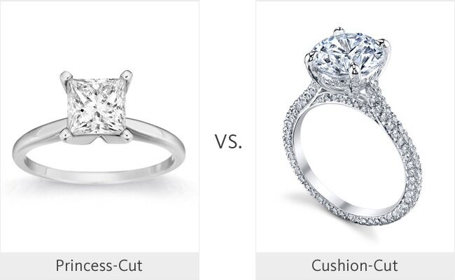 its finally here the ring division championship of our 2013 march madness wedding tournament today we have the 3 seeded princess cut engagement ring - Engagement Ring Vs Wedding Ring