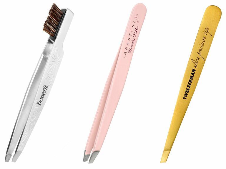 Benefit Tweezers with Brow Brush, Anastasia Beverly Hills Tweezers, Tweezerman Tweezers