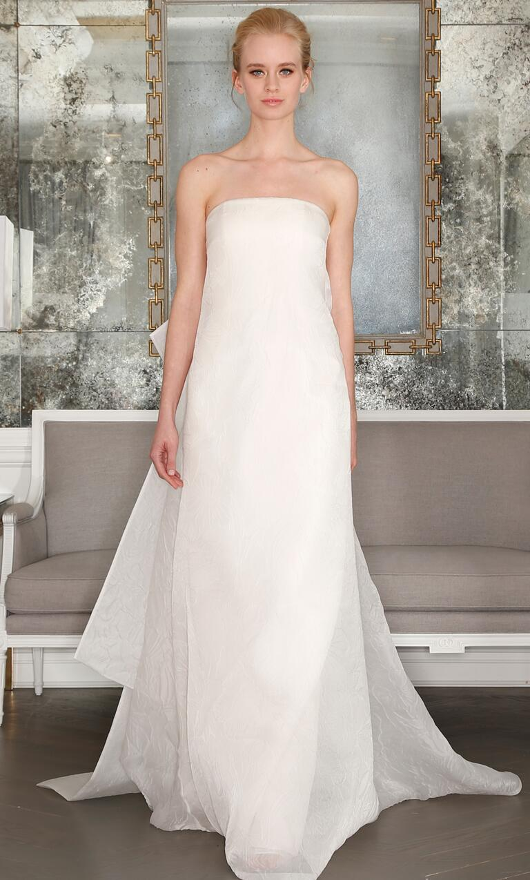 Strapless A-line wedding dress from Romona Keveza's Spring 2017 collection