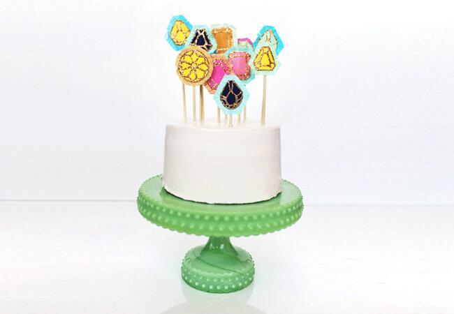 Gem Cake Topper