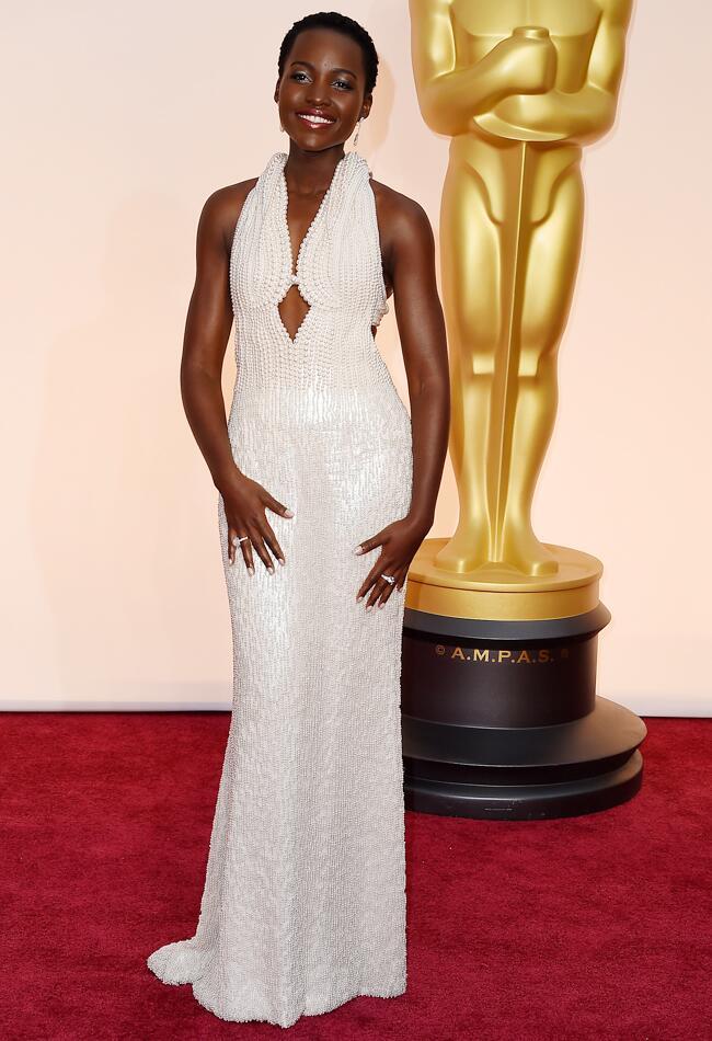 lupita nyongo at the academy awards dress
