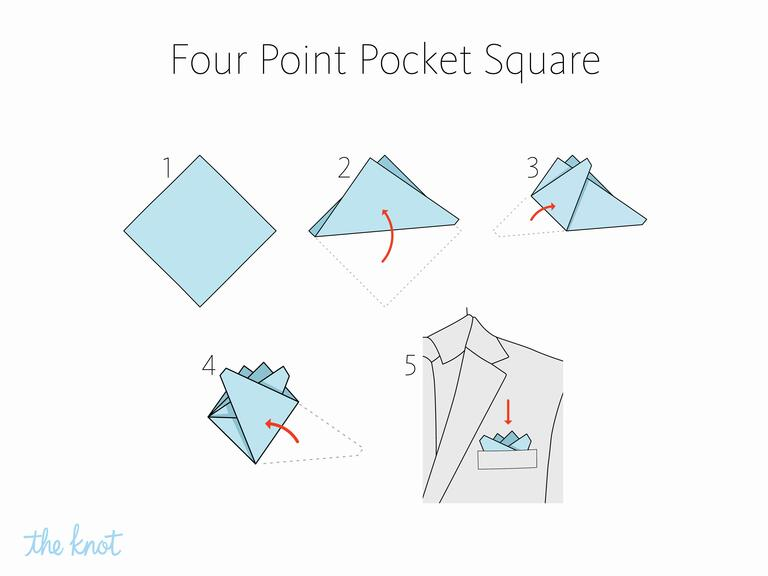 MIKOLO - How to fold a four point pocket square