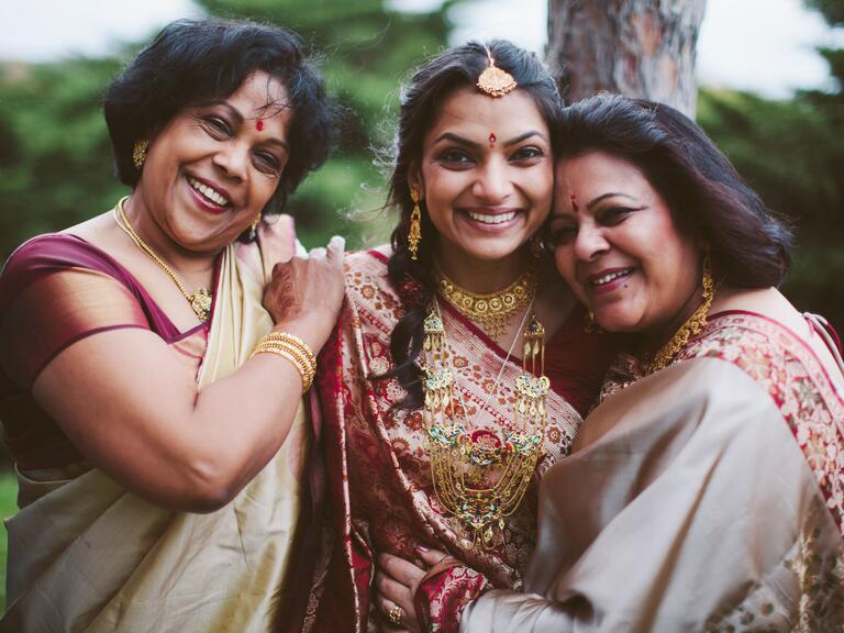 Mother of the bride photo at Hindu wedding