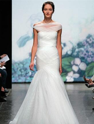 Monique Lhuillier Off-the-Shoulder Gown