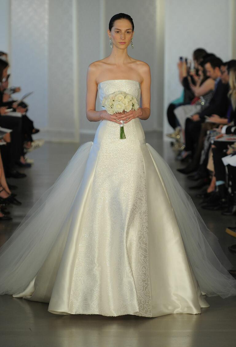 Oscar de la renta spring 2017 collection bridal fashion for Oscar de la renta short wedding dress
