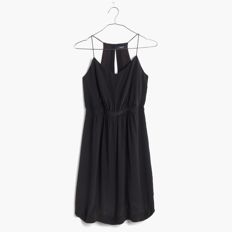 black silk madewell dress