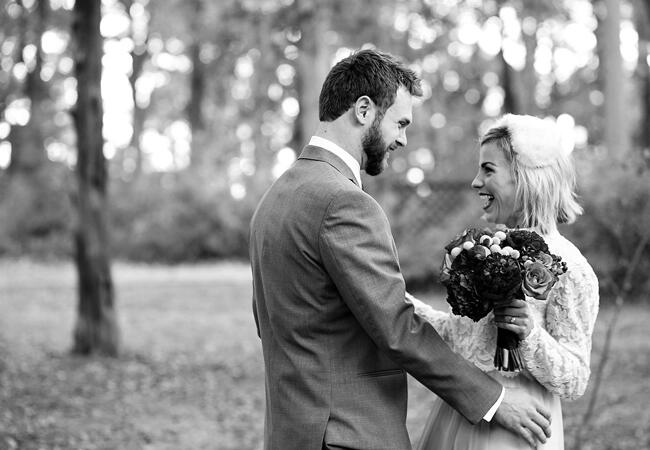 Modern vintage bride and groom | Kelly Lane Photography | blog.theknot.com