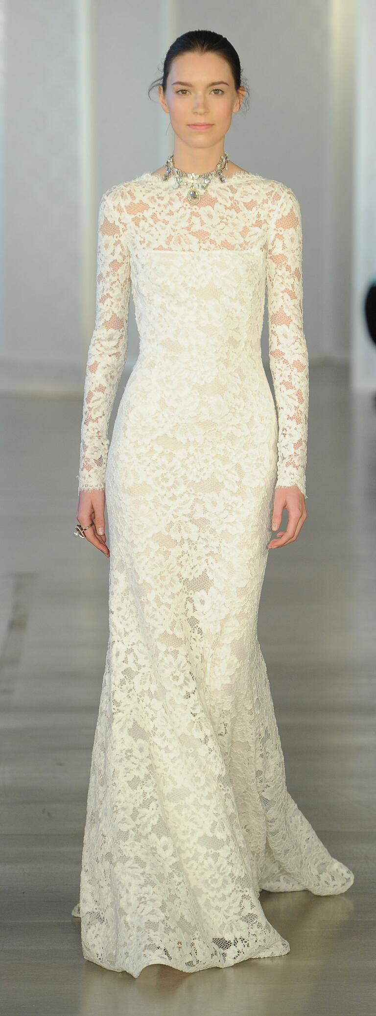 Oscar de la renta spring 2017 collection bridal fashion for Oscar de la renta lace wedding dress
