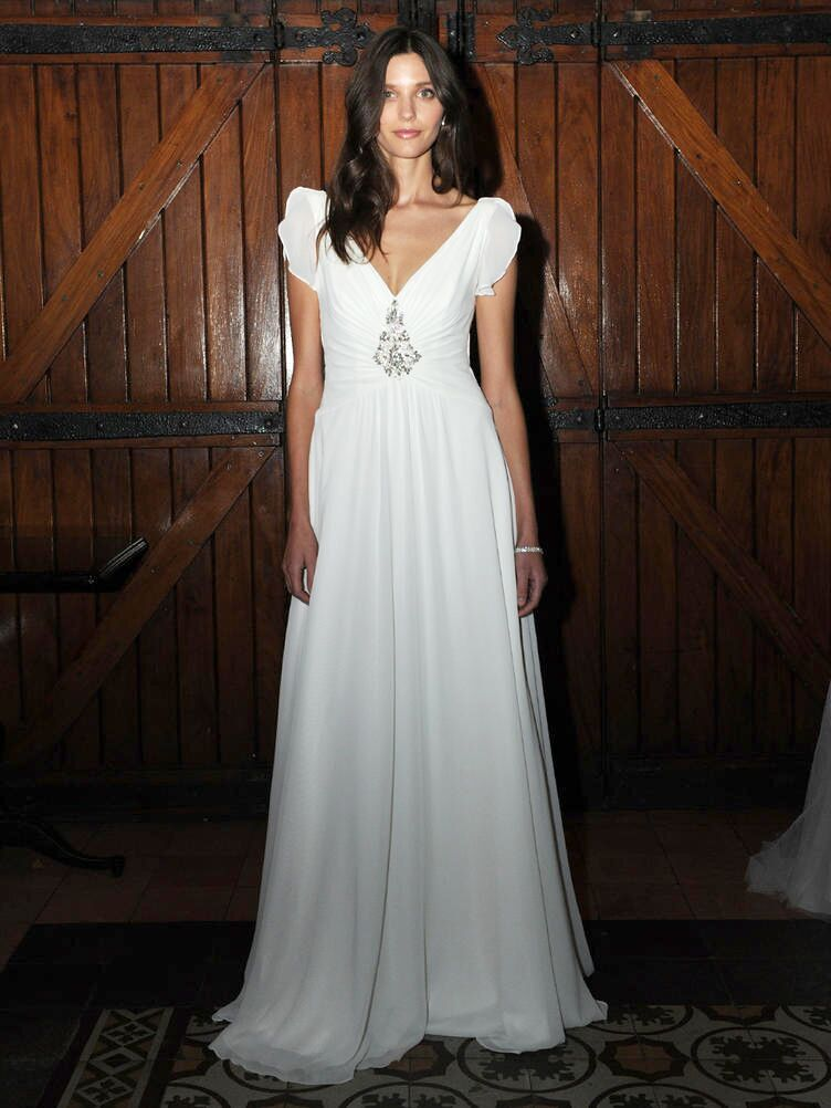 77cc69d716c6 Jenny Packham for David's Bridal Fall 2016 Wedding Dress Collection Makes a  Glamorous Debut