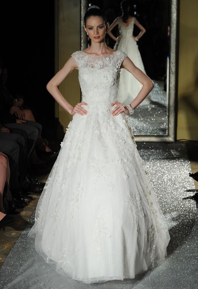Oleg Cassini Wedding Dresses 2015 Showcases Detailed Floral ...