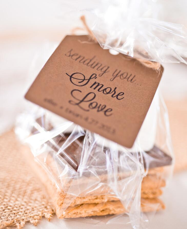 S'more kit wedding favor