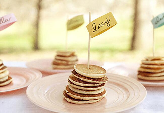 Pancake Escort Cards
