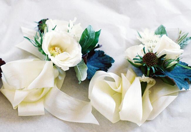 Ribbon-tied Corsages