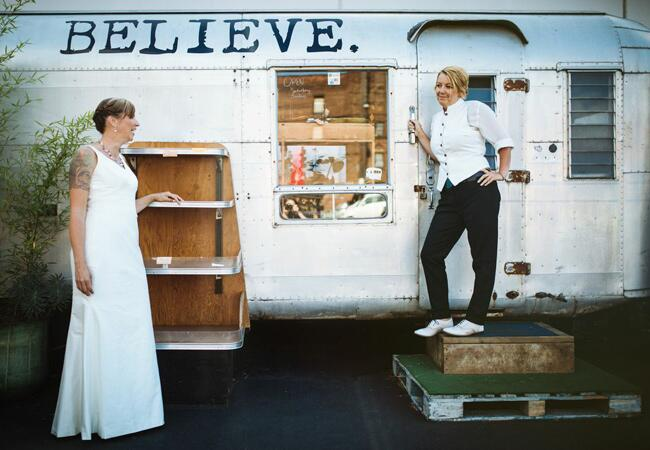 Airstream Wedding Photo  <img class=