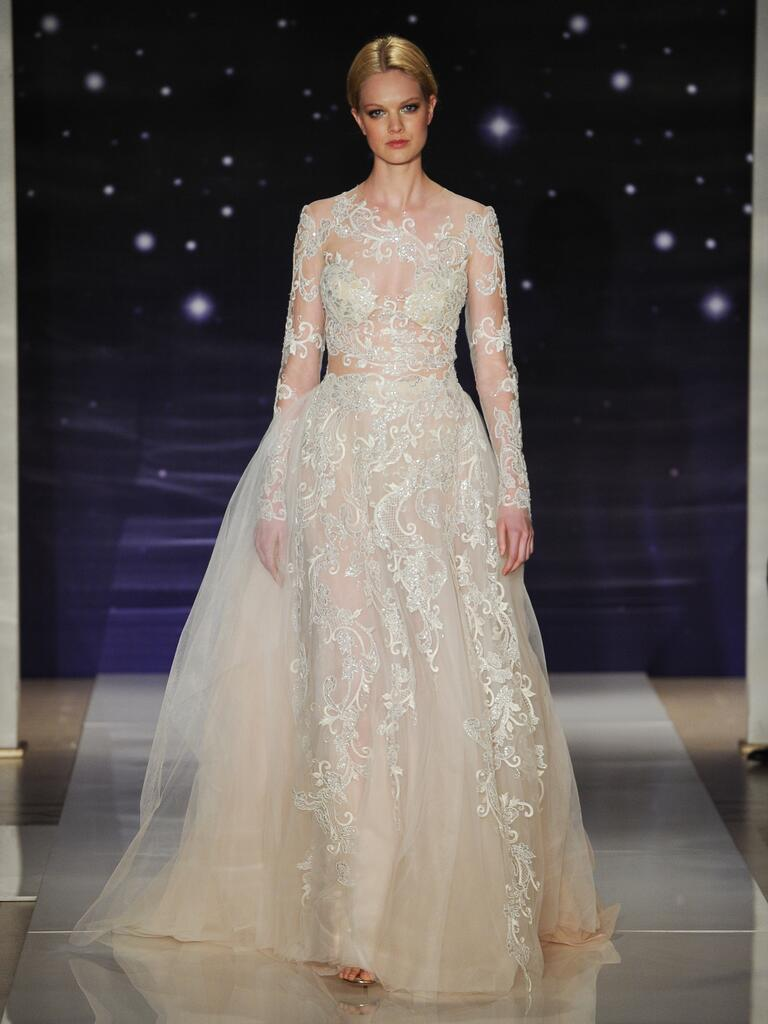 Reem acra spring 2016 wedding dresses from bridal fashion week for Reem acra lace wedding dress
