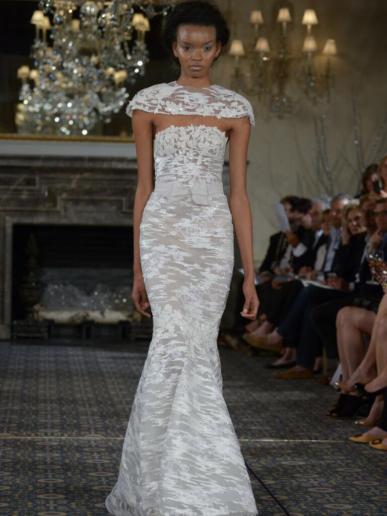 white glitter wedding dresses sparkly wedding dresses Mira Zwillinger Spring Wedding Dresses At Bridal Fashion Week