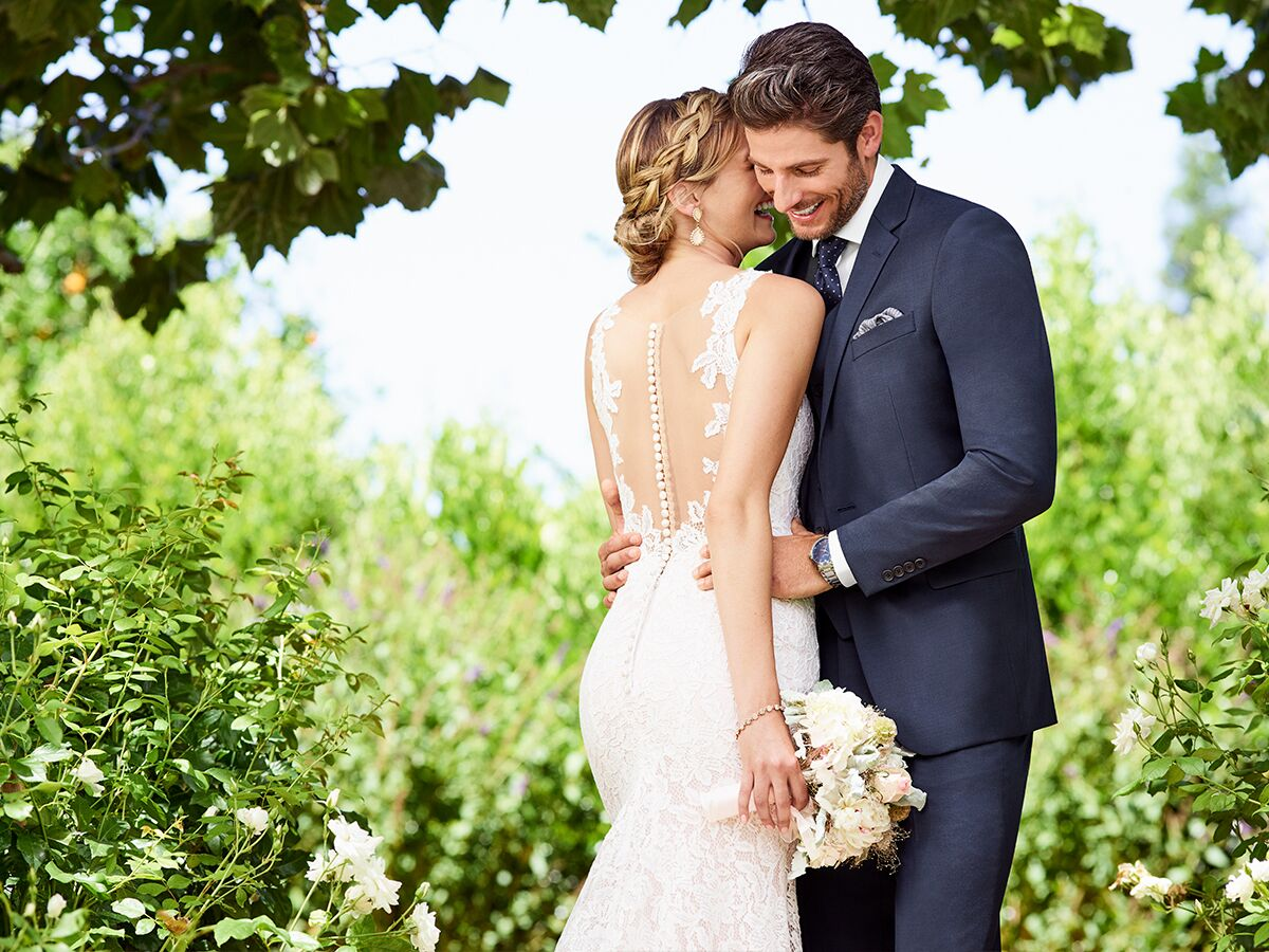 89138665e 8 Ways to Sync His Suit With Your Dress, No Matter Your Wedding Style