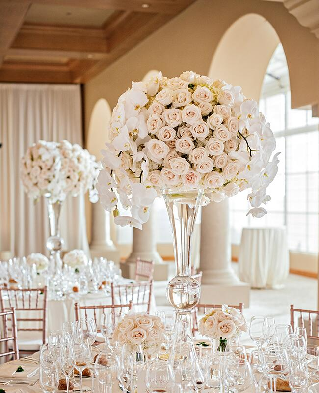 Wedding Decorations Gold Coast: A Rose Gold Wedding (Complete With A Live Painter!) -- See