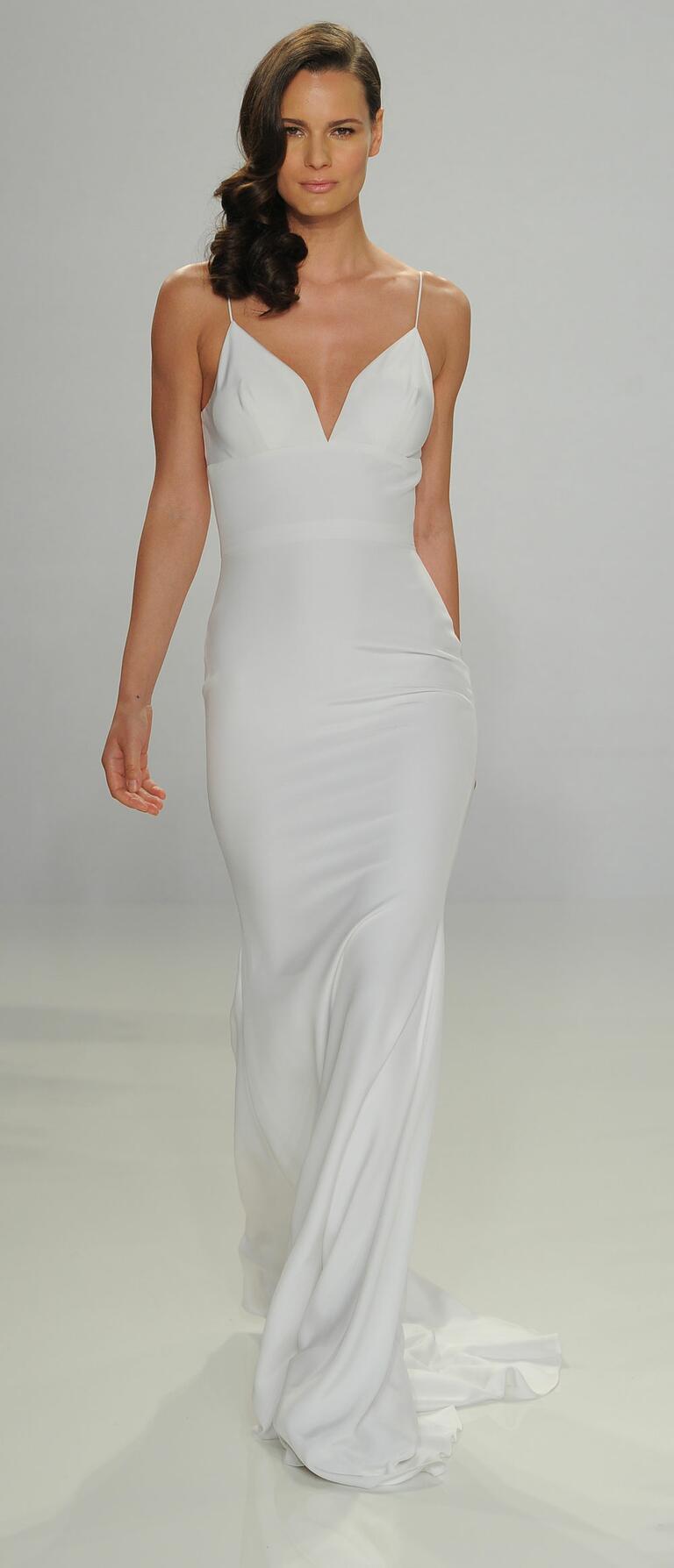 Christian Siriano Spring 2017 slip wedding dress