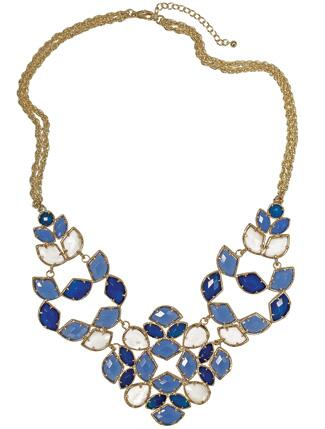 Blue Jeweled Necklace