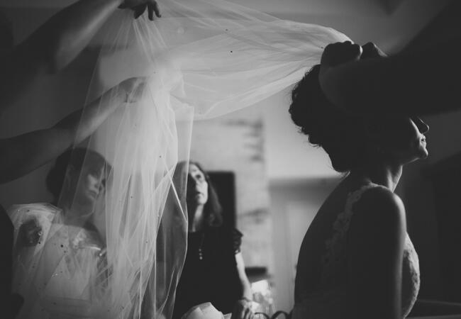 bride veil | Lime Green Photography | blog.theknot.com