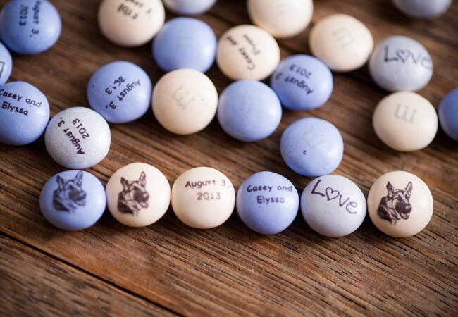 Mar 09,  · I bought the personalized M&Ms for my best friend's shower several years ago and they were a huge hit. We're planning to do this as favors for our wedding. Ordering in bulk is the way to go then hit up Michael's for inexpensive packaging.