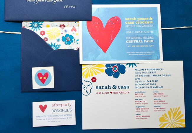 Bright & Fun Floral Invitations |<img class=