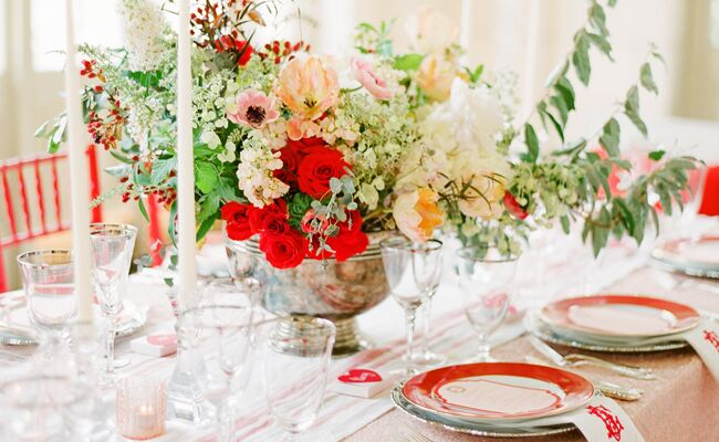 19 Poppy Red And Green Wedding Ideas
