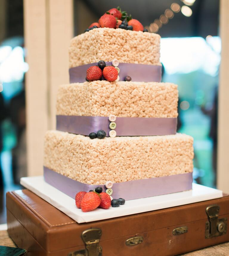 rice krispies treat cake wedding dessert