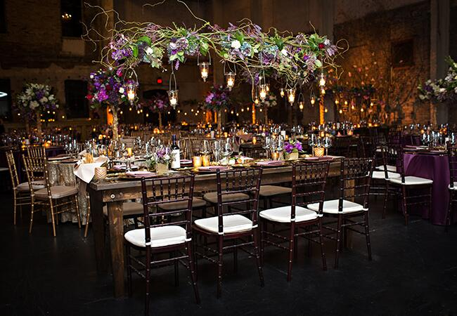 hanging reception flowers  <img class=