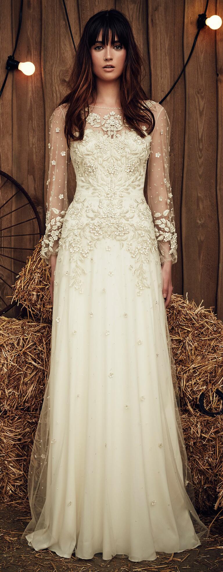 Jenny packham spring 2017 collection bridal fashion week for Jenny packham wedding dress