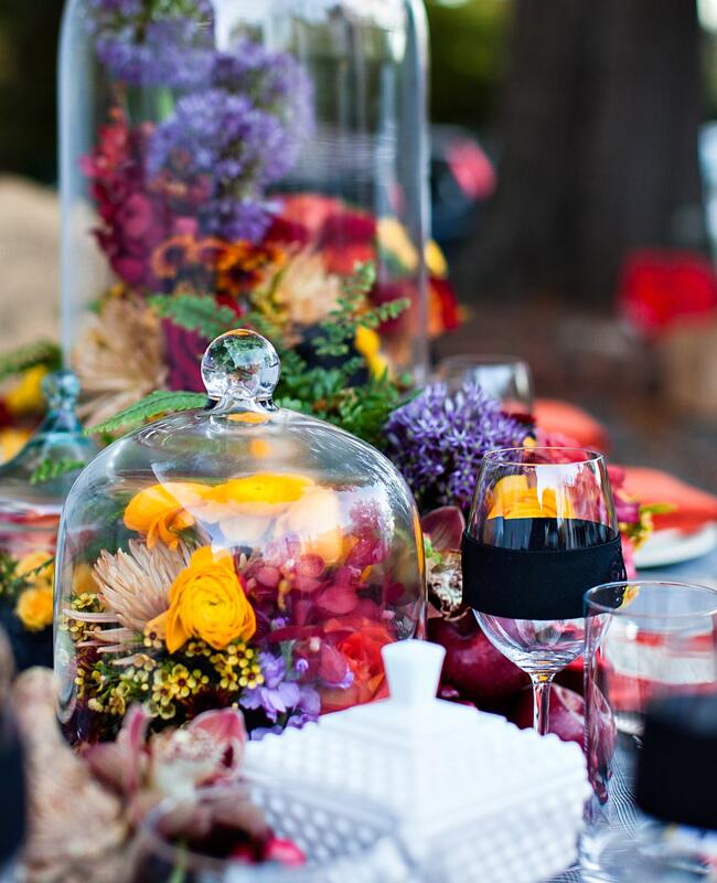 Fall wedding centerpieces | Kelly Lane Photography | blog.theknot.com