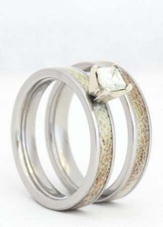 deer antler engagement ring - Dinosaur Bone Wedding Ring