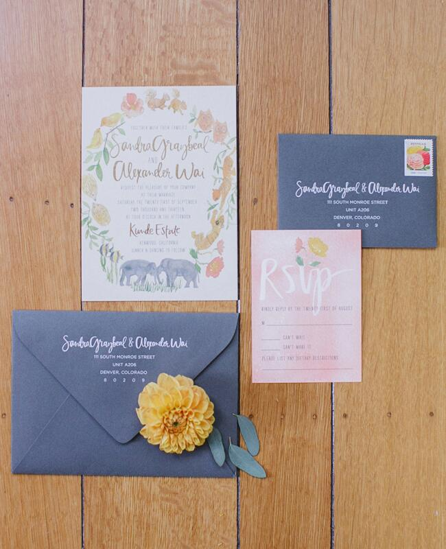 Colorful Watercolor Invitations  <img class=