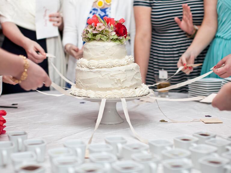 Southern wedding cake pull