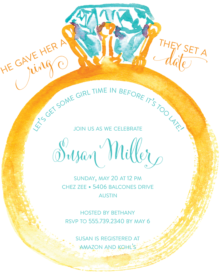 bridal shower invitation wording ideas and etiquette, invitation samples
