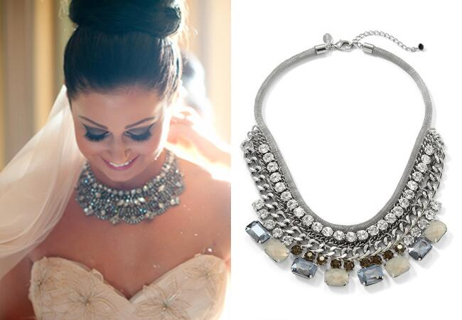 Silver Collar Necklace |<img class=