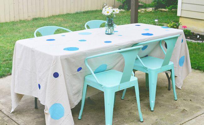 Diy Summer Outdoor Party Table Cloth