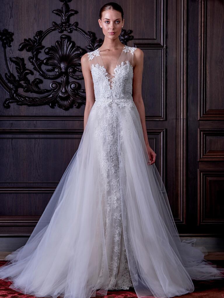 Monique Lhuillier Spring Wedding Dresses Bridal Fashion Week Photos