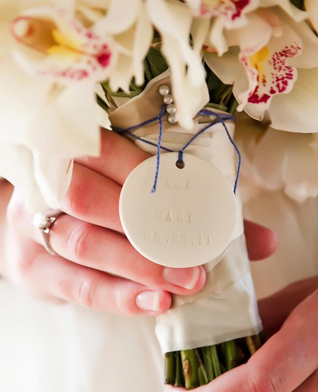 DIY stamped wedding decor: Vue Photography / TheKnot.com