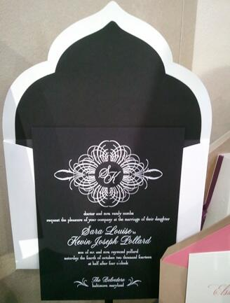 Black and White Invite