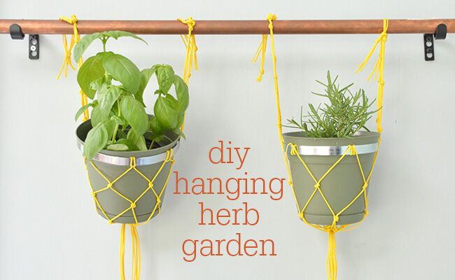 Macram an insanely easy indoor hanging herb garden workwithnaturefo